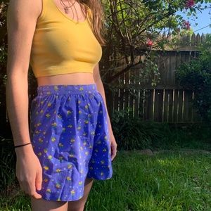 90's floral high waisted shorts